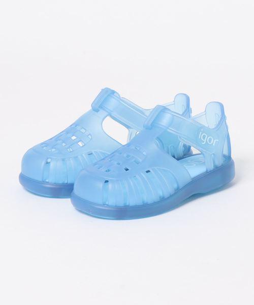 igor(イゴール)の「igor/イゴールkids sandals/キッズサンダル TOBBY VELCRO/水遊び/ビーチサンダル(ビーチサンダル)」|ブルー
