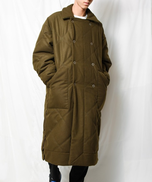 【Ja】【SUPERTHANKS】QUILTING MELTON W LONG COAT