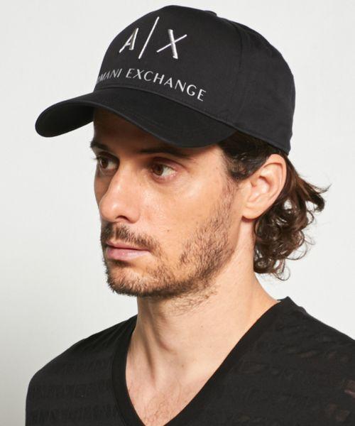 【A Xアルマーニ エクスチェンジ】A Xロゴ パネルキャップ
