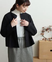 yuni(ユニ )の△Flower EmbroidaryShort ジャケット(ノーカラージャケット)