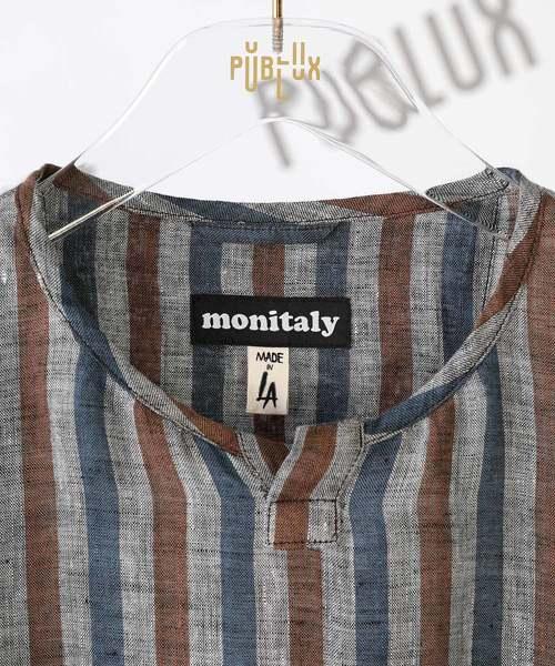 MONITALY/モニタリー S/S Crew Henly Pullover/クルーヘンリーネック プルオーバー