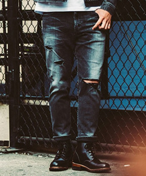 予約販売 BORN AGAINST GARAGE BLACK GARAGE USED CROPPED USED JEANS(デニムパンツ) AGAINST|CRIMIE(クライミー)のファッション通販, あかい靴:ca747d45 --- pyme.pe
