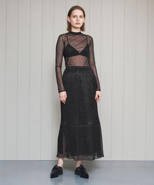 <H>LAME PLEATS TIERED SKIRT/スカート