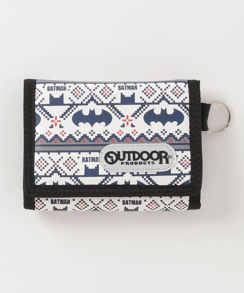 【 OUTDOOR PRODUCTS × BATMAN / アウトドアプロダクツ 】 バットマン×アウトドア ノルディック柄3つ折りウォレット 財布 AWD・・
