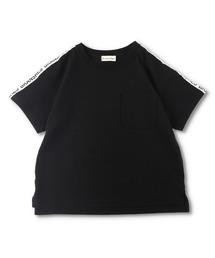 branshes(ブランシェス)の【WEB限定】ラインロゴ半袖Tシャツ(Tシャツ/カットソー)