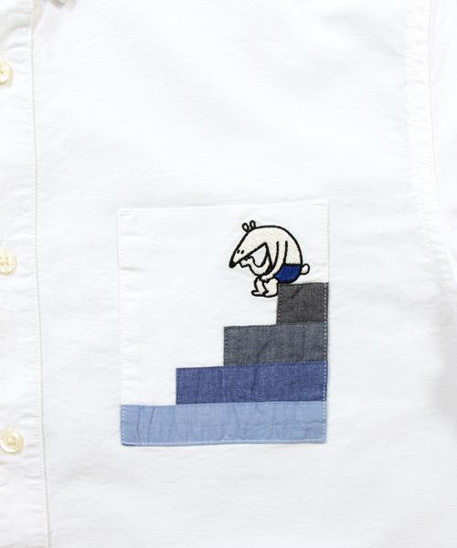 ポケットデザインシャツ/トップオブザワールド