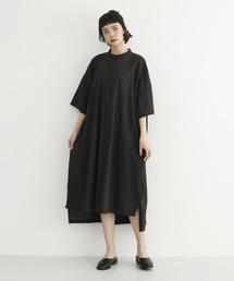 MERLOT IKYU(メルローイキュウ)のコットンバンドカラーシャツワンピース1640(シャツワンピース)