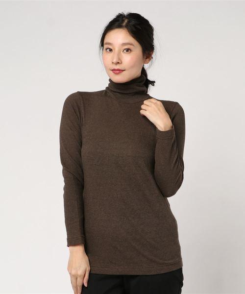 超ガーゼの丸編みタートルネックTシャツ