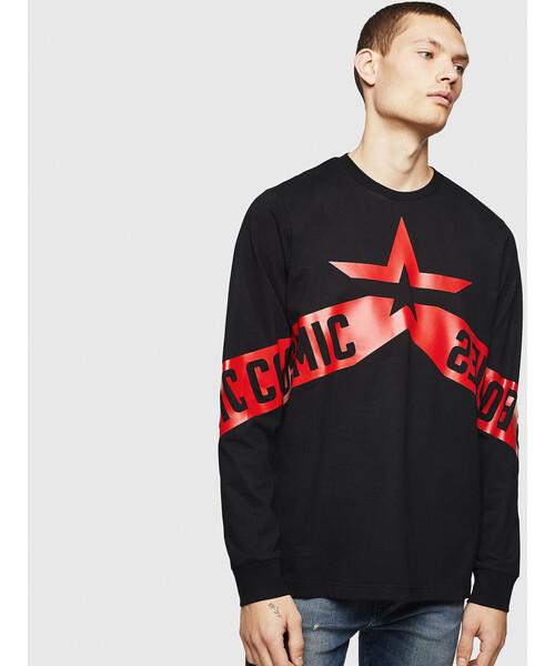 【在庫限り】 メンズ Tシャツ 長そで Tシャツ グラフィックTシャツ(Tシャツ 長そで/カットソー) DIESEL|DIESEL(ディーゼル)のファッション通販, 爆安!家電のでん太郎:261ecbaf --- fahrservice-fischer.de