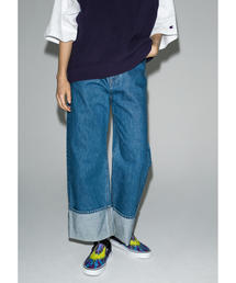<monkey time> DENIM ROLL UP BUGGY/デニムパンツ