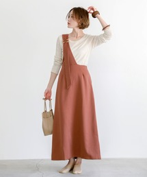 select MOCA(セレクトモカ)のワンショルダーサロペットスカート/ウエストゴムアジャスター付きワンショルスカート(スカート)