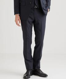 [レダ] REDA トロピカル 無地 スリム ノープリーツ スーツパンツ