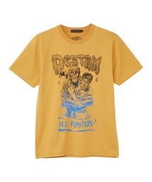 DESTROY ALL MONSTERS/ZOMBIE ATTACK Tシャツイエロー
