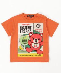 HYSTERIC FREAKS pt Tシャツ【XS/S/M】オレンジ