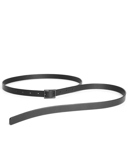 PATRICK STEPHAN(パトリックステファン)の「Leather skinny belt 'hang down'  ベルト(ベルト)」|ブラック×ブラック