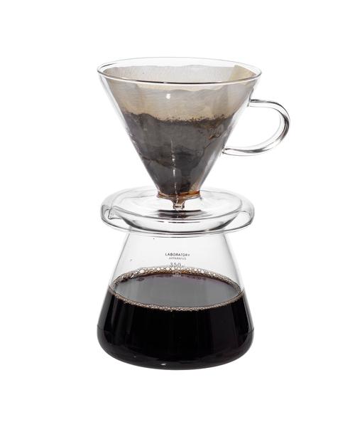 PUEBCO(プエブコ)の「GLASS COFFEE DRIPPER SET(キッチンツール)」 クリア