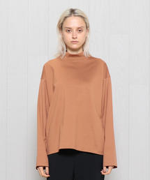 <H>COTTON MOCK LONG SLEEVE/カットソー
