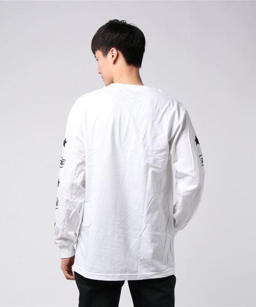 LRG(エルアールジー)の「【LRG】ビッグシルエットフロント&袖プリント長袖Tシャツ(Tシャツ/カットソー)」 詳細画像