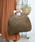 210nouve(トゥージュヌーブ)の「ペーパーウッドハンドルバッグ(かごバッグ)」|ブラウン