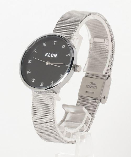 オリジナル KLON ALPHABET TIME -SILVER MESH- MESH-【BLACK SURFACE ALPHABET】 Ver.SILVER SURFACE】 33mm(腕時計)|KLON(クローン)のファッション通販, キッチン:ee6a0e77 --- blog.buypower.ng