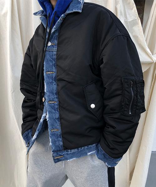 値段が激安 【M.P JKT Studios】 Studios】【2019AW【2019AW 先行予約】ビッグシルエット リバーシブル ダメージ加工 デニム リバーシブル JKT MA-1(MA-1)|M.P Studios(エムピーストゥディオ)のファッション通販, 007速配コンタクトレンズ カラパラ:17d3db26 --- 888tattoo.eu.org