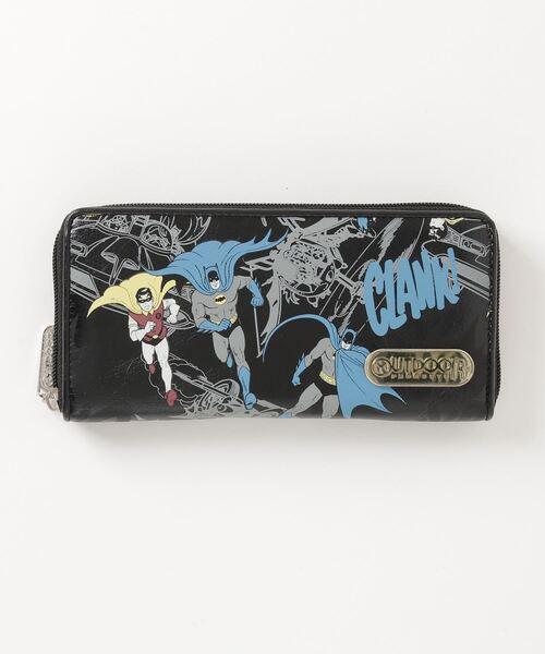【 OUTDOOR PRODUCTS × BATMAN 】 バットマン×アウトドアプロダクツ  バットマン&ロビン柄ラウンドウォレット 財布 AWD・・