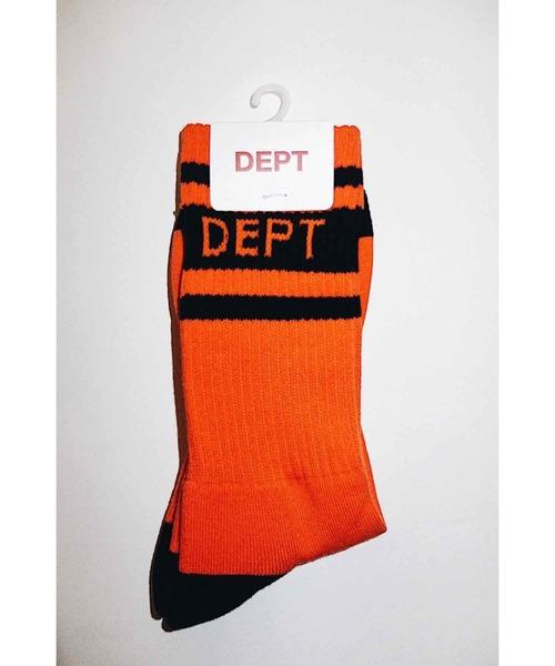 DEPT(デプト)の「DEPT LINE SOX(ソックス/靴下)」 オレンジ