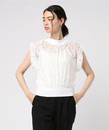 CECIL McBEE(セシルマクビー)のウエストリブTOPS(Tシャツ/カットソー)