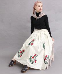 peu pres(プープレ)のブーケ刺繍スカート(スカート)