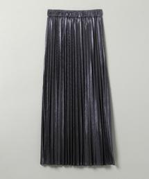 JEANASIS(ジーナシス)のグリッタープリーツロングスカート/852404(スカート)