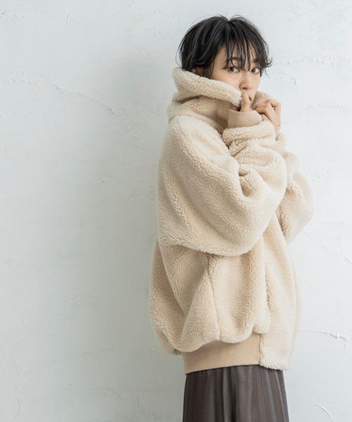 【CIENA】ビックシルエットムートンボアジャケット
