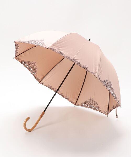 ウィズ wiz / 【晴雨兼用】【日傘】バルーン オーガンジー フラワー リーフ 長傘 日傘