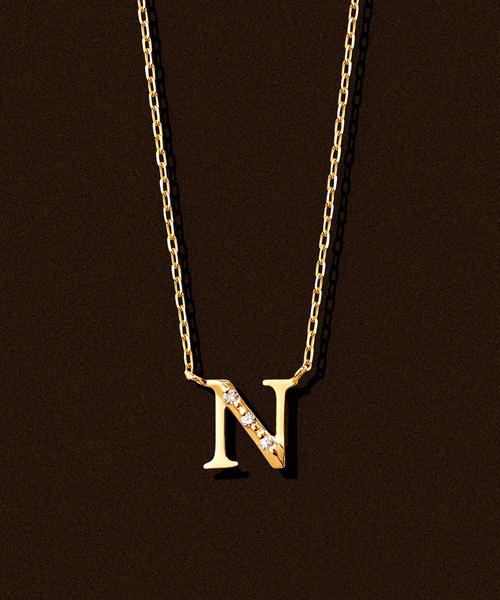 正規通販 【ESTELLE/エステール】K18 イエローゴールド ダイヤモンド ダイヤモンド イニシャル ネックレス(N)(ネックレス) イニシャル ESTELLE(エステール)のファッション通販, SPOTCHECK.SHOP:a08121bf --- wm2018-infos.de
