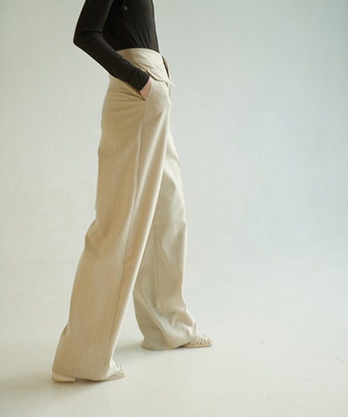 【chuclla】【2020/AW】Fan cut high waist pants chw1386