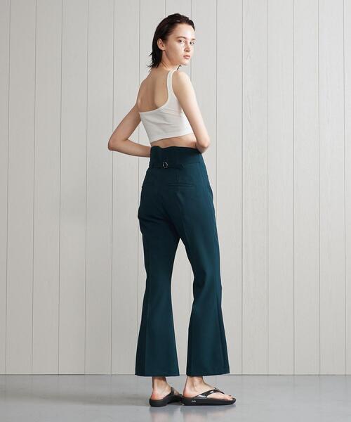 <YOHEI OHNO × H>HIGH WAIST FLARE PANTS 2021FW/パンツ.