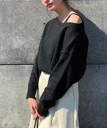 AZUL BY MOUSSY(アズールバイマウジー)の2WAY KNIT SET TOPS/2WAYニットセットトップス(ニット/セーター)
