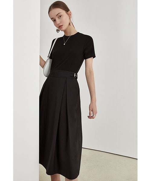 【Fano Studios】【2021SS】Switching tuck dress FX21L044
