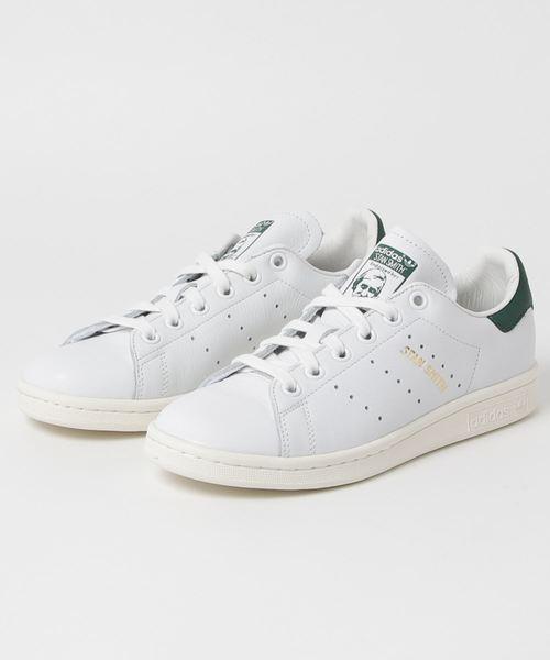 adidas(アディダス)の「ADIDAS アディダス STAN SMITH スタンスミス CQ2871 18SP WHT/WHT/GRN(スニーカー)」|ホワイト