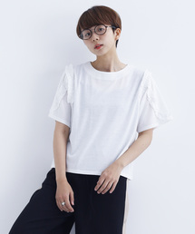 merlot(メルロー)のフリルラインTシャツ1652(Tシャツ/カットソー)