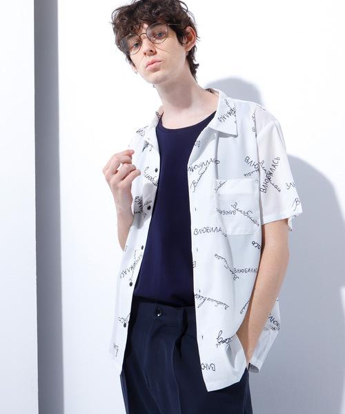 グラフィティープリント 半袖シャツ