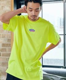 VANS/ヴァンズ Neon OTW S/S T-Shirt ネオンオフザウォールプリント半袖Tシャツイエロー系その他