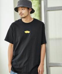 VANS/ヴァンズ Neon OTW S/S T-Shirt ネオンオフザウォールプリント半袖Tシャツブラック
