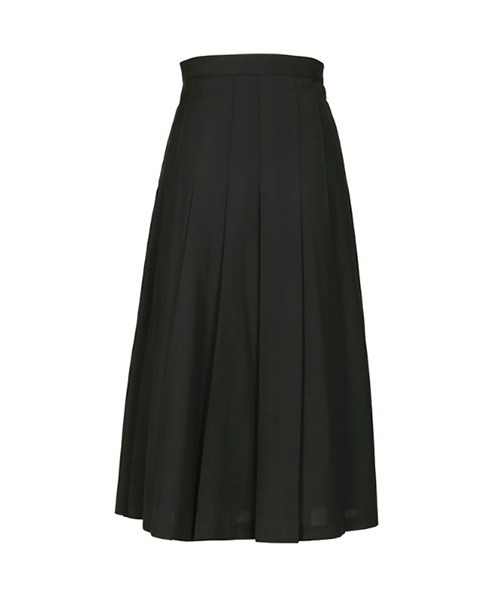 【chuclla】Wide pleated wool skirt chw1388