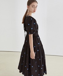 【Fano Studios】【2021SS】Blue jacquard back tie long dress FX21L033ブラック
