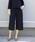 PICCIN(ピッチン)の「【WEB限定】綾織りツイードワイドパンツ(スーツパンツ)」|ネイビー