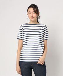 Le Minor(ルミノア)のLe minor / ルミノア:【レディース】Short Sleeve Border shitrs-BCMR(WHITE/NAVY)-:LM20G707-BCMR[ANN](Tシャツ/カットソー)