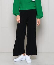 <H>DOUBLE CLOTH SLIT PANTS/パンツ