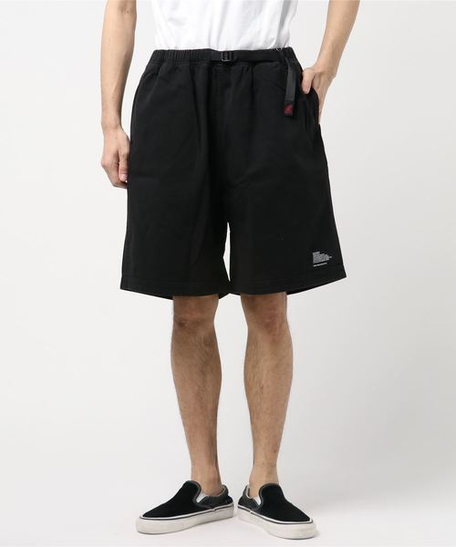 WHITE MOUNTAINEERING(ホワイトマウンテニアリング)の「【WHITE MOUNTAINEERING × GRAMICCI】ホワイトマウンテニアリング GARMENT DYED WIDE SHORT PANTS(パンツ)」|ブラック