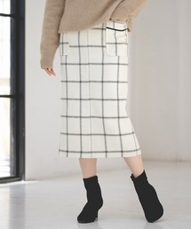 apart by lowrys(アパートバイローリーズ)のヘリンボンチェックタイトスカート 856315(スカート)