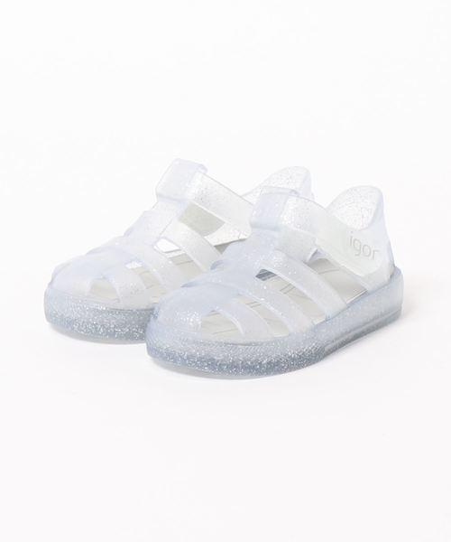 igor(イゴール)の「igor/イゴール/ Kids sandals Kids sandals/キッズサンダル/キラキラサンダル 水遊び/STAR GLITTER(サンダル)」|グレー